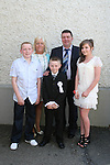 James Meegan with his family at the Walshestown NS Communion in St.Pauls Church...Photo NEWSFILE/Jenny Matthews.(Photo credit should read Jenny Matthews/NEWSFILE)....This Picture has been sent you under the condtions enclosed by:.Newsfile Ltd..The Studio,.Millmount Abbey,.Drogheda,.Co Meath..Ireland..Tel: +353(0)41-9871240.Fax: +353(0)41-9871260.GSM: +353(0)86-2500958.email: pictures@newsfile.ie.www.newsfile.ie.FTP: 193.120.102.198.