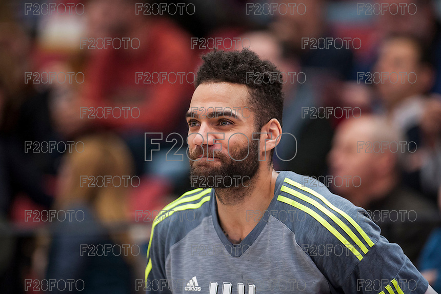 VALENCIA, SPAIN - FEBRUARY 28: Jeffery Taylor during ENDESA LEAGUE match between Valencia Basket Club and Real Madrid at Fonteta Stadium on   February, 2016 in Valencia, Spain