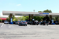 LOS ANGELES - APR 11:  Costco Gas Station Line at the Businesses reacting to COVID-19 at the Hospitality Lane on April 11, 2020 in San Bernardino, CA