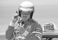 Neil Bonnett prepares Winston 500 at Alabama International Motor Speedway in Talladega , AL on May 5, 1985. (Photo by Brian Cleary/www.bcpix.com)