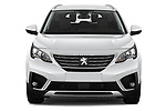 Car photography straight front view of a 2019 Peugeot 5008 Allure 5 Door SUV Front View