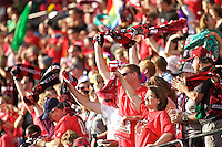 Portland, Oregon - Sunday September 4, 2016: Thorns supporters during a regular season National Women's Soccer League (NWSL) match at Providence Park.