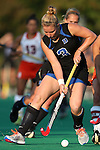 19 September 2014: Duke's Heather Morris. The Duke University Blue Devils hosted the University of Virginia Cavaliers at Jack Katz Stadium in Durham, North Carolina in a 2014 NCAA Division I Field Hockey match. Virginia won the game 2-1.