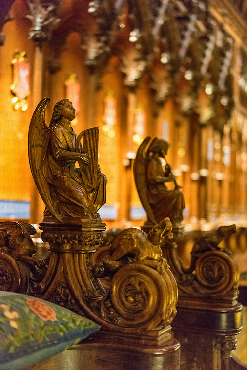 Carvings in Salisbury Cathedral in Wiltshire, England