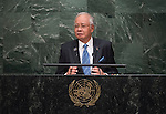 His Excellency Dato' Sri Mohd Najib Tun Abdul Razak, Prime Minister of Malaysia  <br /> General Assembly Seventieth session 9th plenary meeting: High-level plenary meeting of the (6th meeting)