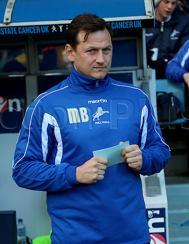 15.02.2014 London, England. Marc BIRCHAM during the Championship game between Millwall and Bolton Wanderers from The New Den.