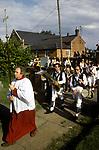 Rush Bearing ceremony Wingrave Buckinghamshire. England