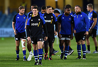 Freddie Burns of Bath Rugby looks on prior to the match. Gallagher Premiership match, between Bath Rugby and Exeter Chiefs on October 5, 2018 at the Recreation Ground in Bath, England. Photo by: Patrick Khachfe / Onside Images