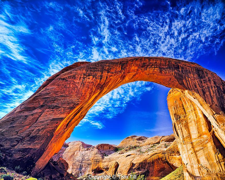 Rainbow Bridge           Rainbow Bridge National Monument, Utah   World's largest natural bridge     Lake Powell   Span over 300 feet wide