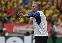 BARRANQUILLA - COLOMBIA - 05-09-2017:  Tite técnico de Brasil durante partido contra de Colombia de la fecha 16 por la clasificación Copa Mundial de la FIFA Rusia 2018 jugado en el estadio Metropolitano Roberto Melendez en Barranquilla. /  Tite coach of Brazil during match against Colombia of the date 16 for the qualifier to FIFA World Cup Russia 2018 played at Metropolitan stadium Roberto Melendez in Barranquilla. Photo: VizzorImage/ Gabriel Aponte / Staff