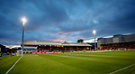 Firhill Stadium at sunset