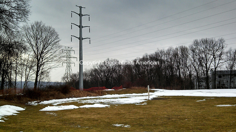WATERBURY, CT - March 13, 2014 - 031214AL01 - Murray Park in Waterbury already has high-voltage power cables on the property. AT&T wants to build a 170-foot tall wireless communication tower in the park. Andrew Larson / Republican-American