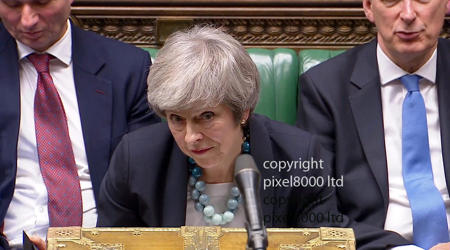 PM Theresa May gives statement to the house 10.12.18 after cancelling the brexit vote due tomorrow<br /> <br /> <br /> <br /> Picture by Pixel8000 07917221968