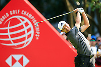 Xander Schauffele (USA) on the 3rd tee during the 3rd round of the WGC HSBC Champions, Sheshan Golf Club, Shanghai, China. 02/11/2019.<br /> Picture Fran Caffrey / Golffile.ie<br /> <br /> All photo usage must carry mandatory copyright credit (© Golffile | Fran Caffrey)