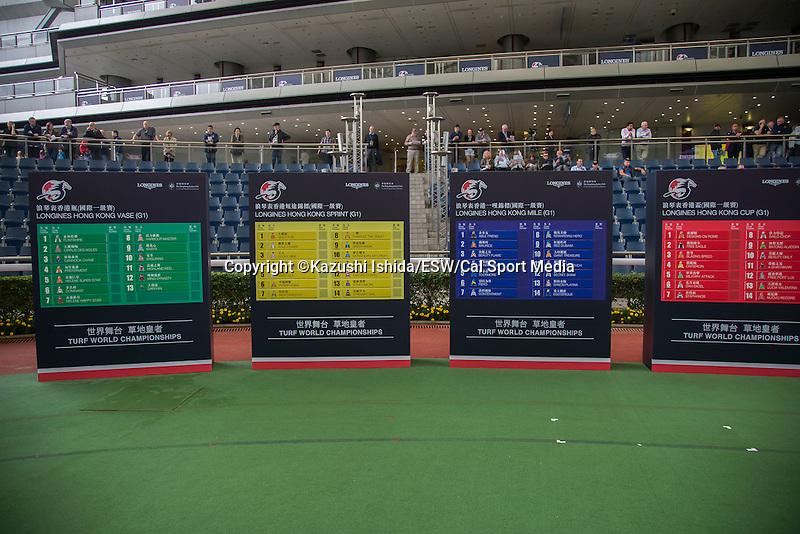 DEC 10,2015: LONGINES Hong Kong International Races Barrier Draw at Sha Tin in New Territories,Hong Kong. Kazushi Ishida/ESW/CSM