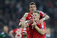 25.05.2013, Wembley Stadion, London, ENG, UEFA Champions League, FC Bayern Muenchen vs Borussia Dortmund, Finale, im Bild Jubel Bastian SCHWEINSTEIGER (FC Bayern Muenchen - 31) und Mario MANDZUKIC (FC Bayern Muenchen - 9) nach dem Sieg im Champions League Finale mit 2-1 gegen Borussia Dortmund // during the UEFA Champions League final match between FC Bayern Munich and Borussia Dortmund at the Wembley Stadion, London, United Kingdom on 2013/05/25. EXPA Pictures © 2013, PhotoCredit: EXPA/ Eibner/ Gerry Schmit<br /> <br /> ***** ATTENTION - OUT OF GER ***** <br /> 25/5/2013 Wembley<br /> Football 2012/2013 Champions League<br /> Finale <br /> Borussia Dortmund Vs Bayern Monaco <br /> Foto Insidefoto