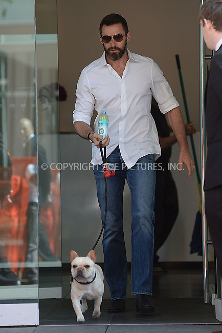 WWW.ACEPIXS.COM<br /> May 11, 2014 New York City<br /> <br /> Hugh Jackman and family out and about on Mother's Day in New York City on May 11, 2014.<br /> <br /> By Line: Kristin Callahan/ACE Pictures<br /> ACE Pictures, Inc.<br /> tel: 646 769 0430<br /> Email: info@acepixs.com<br /> www.acepixs.com