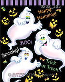 Janet, REALISTIC ANIMALS, Halloween, paintings, Three Ghosts(USJS105,#A#)