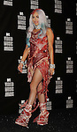 LOS ANGELES, CA. - September 12: Lady Gaga poses in the press room at the 2010 MTV Video Music Awards held at Nokia Theatre L.A. Live on September 12, 2010 in Los Angeles, California.