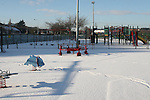 Empty Playground, Drogheda in Snow...Photo NEWSFILE/Jenny Matthews.(Photo credit should read Jenny Matthews/NEWSFILE)....This Picture has been sent you under the condtions enclosed by:.Newsfile Ltd..The Studio,.Millmount Abbey,.Drogheda,.Co Meath..Ireland..Tel: +353(0)41-9871240.Fax: +353(0)41-9871260.GSM: +353(0)86-2500958.email: pictures@newsfile.ie.www.newsfile.ie.FTP: 193.120.102.198.