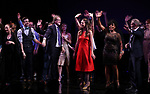 Harriet Harris, Gavin Creel, Dick Scanlan, Sutton Foster, Sheryl Lee Ralph and Marc Kudisch during the curtain Call bows for the Actors Fund's 15th Anniversary Reunion Concert of 'Thoroughly Modern Millie' on February 18, 2018 at the Minskoff Theatre in New York City.