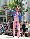 """Uncle Sam""  marching in the Saugerties July 4th Parade on Main Street in Saugerties, NY on Monday, July 4, 2011. Photo by Jim Peppler. Copyright © Jim Peppler 2011."