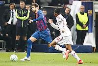 MILANO 28 MARZO 2012, MILAN - BARCELLONA,QUARTI DI FINALE UEFA CHAMPIONS LEAGUE 2011 - 2012, NELLA FOTO:PIQUET , FOTO DI ROBERTO TOGNONI.