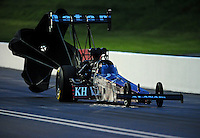 Jun. 19, 2011; Bristol, TN, USA: NHRA top fuel dragster driver Larry Dixon during qualifying for the Thunder Valley Nationals at Bristol Dragway. Mandatory Credit: Mark J. Rebilas-