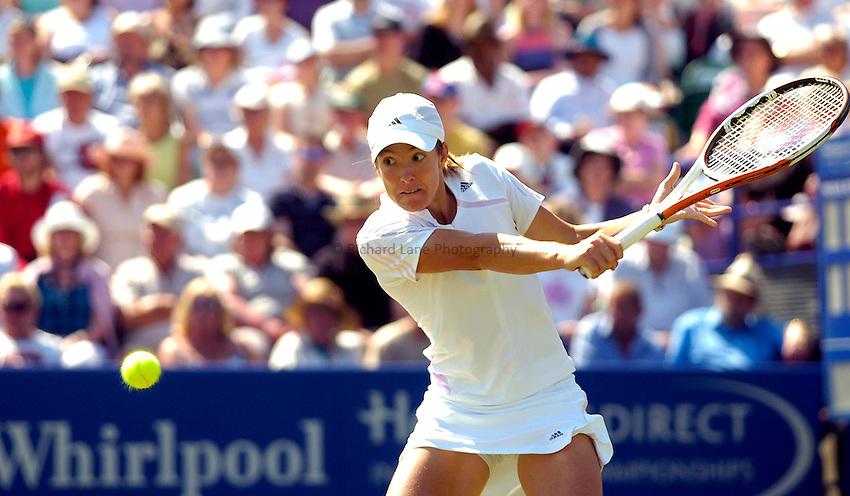 Photo: Alan Crowhurst..WTA The Hastings Direct International Championships Final, Eastbourne. 24/06/2006. Justine Henin-Hardenne.