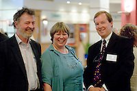 Hugh L'Estrange, Susan Norman & Bill Lucas at a Teaching Expertise conference in Birmingham..