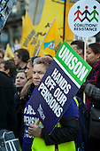 Strike by public sector workers over pensions. London