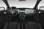 Stock photo of straight dashboard view of a 2015 Fiat 500 Sport Door Hatchback Dashboard