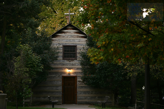 Log Chapel<br /> <br /> Photo by Matt Cashore/University of Notre Dame