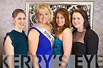 Niamh O'Donnell, Tracey Barrett, Olivia O'Shea and Caitriona Ni Dhonaill from Tralee pictured at the Kerry Rose Selection at the Earl of Desmond Hotel on Saturday night.
