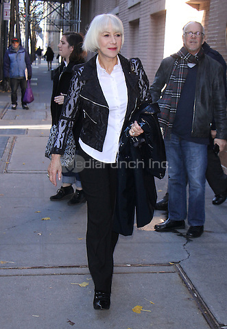 NEW YORK, NY - DECEMBER 5: Helen Mirren  seen after an appearance on ABC's The View in New York City on December 5, 2016. Credit: RW/MediaPunch