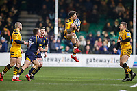 25th January 2020; Sixways Stadium, Worcester, Worcestershire, England; Premiership Rugby, Worcester Warriors versus Wasps; Matteo Minozzi of Wasps catches the ball in the air