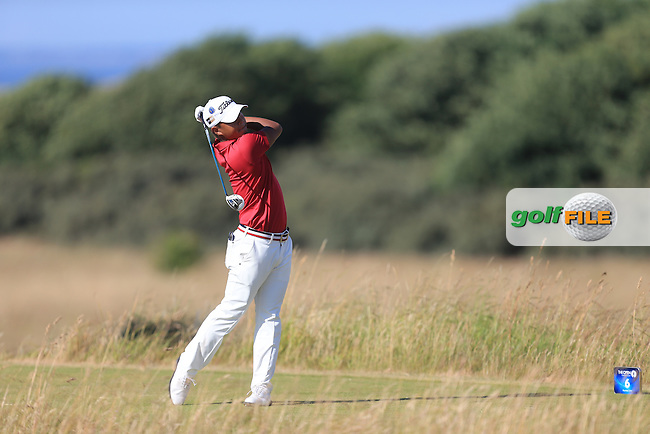 Satoshi KODAIRA (JAP) during round one of  The 142th Open Championship Muirfield, Gullane, East Lothian, Scotland 18/7/2013<br /> Picture Eoin Clarke www.golffile.ie:
