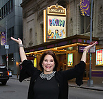 "Courtenay Collins during her Broadway Debut in ""The Prom"" Photo Shoot at the Longacre Theatre on November 28, 2018 in New York City."