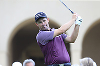 Padraig Harrington (IRL) on the 10th tee during Sunday's storm delayed Final Round 3 of the Andalucia Valderrama Masters 2018 hosted by the Sergio Foundation, held at Real Golf de Valderrama, Sotogrande, San Roque, Spain. 21st October 2018.<br /> Picture: Eoin Clarke | Golffile<br /> <br /> <br /> All photos usage must carry mandatory copyright credit (&copy; Golffile | Eoin Clarke)