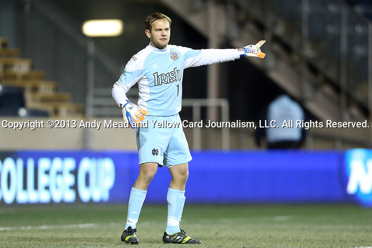 13 December 2013: Notre Dame's Patrick Wall. The University of Notre Dame Fighting Irish played the University of New Mexico Lobos at PPL Park in Chester, Pennsylvania in a 2013 NCAA Division I Men's College Cup semifinal match. Notre Dame won the game 2-0.