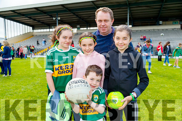 Attending the Kerry Team Open Day Meet and Greet, at Fitzgerald Stadium, Killarney on Saturday last, were l-r: Clodagh, Niamh, Padraig, Patrick and Shannon Collins (Knocknagoshel).