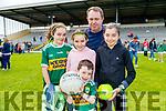 Attending the Kerry Team Open Day Meet and Greet, at Fitzgerald Stadium, Killarney on Saturday last, were l-r: Clodagh, Niamh, Padraig, Patrick and Shannon Collins (Knocknagoshel).