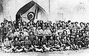 Iraq 1922. July 11th, Suleimania: The First Division of  the National Army taking oath to serve the Kurdish nation in front the flag of Sheikh Mahmoud   .<br /> Irak 1922 . le 11 juillet a Souleimania, la premi&egrave;re division de l'arm&eacute;e nationale pr&eacute;tant serment devant le drapeau du gouvernement de Sheikh Mahmoud