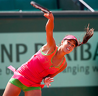 ANA IVANOVIC (SRB) against JOHANNA LARSSON (SWE)  in the first round of the women's singles. Johanna Larsson beat Ana Ivanovic 7-6 0-6 6-2  ..Tennis - Grand Slam - French Open - Roland Garros - Paris - Day 3 -  Tue May 24th 2011..© AMN Images, Barry House, 20-22 Worple Road, London, SW19 4DH, UK..+44 208 947 0100.www.amnimages.photoshelter.com.www.advantagemedianetwork.com.