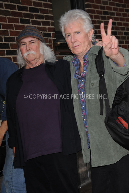 WWW.ACEPIXS.COM . . . . . .November 8, 2011...New York City...David Crosby and Graham Nash tape an appearance on  the Late Show with David Letterman on November 8, 2011 in New York City....Please byline: KRISTIN CALLAHAN - ACEPIXS.COM.. . . . . . ..Ace Pictures, Inc: ..tel: (212) 243 8787 or (646) 769 0430..e-mail: info@acepixs.com..web: http://www.acepixs.com .