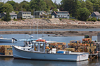 Fishing vessels are pictured in the harbor of Tremont, Maine Wednesday June 19, 2013. Located on Mount Desert Island, Tremont primary industry is fishing, mainly lobster.