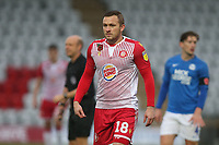 Dean Parrett of Stevenage during Stevenage vs Peterborough United, Emirates FA Cup Football at the Lamex Stadium on 9th November 2019