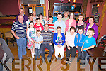 Gerldine Daly from Waterville celebrated her 40th birthday in Franks Corner Bar Cahersiveen on Sunday last, Gerldine pictured here front centre with family and friends.