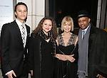 Trey Santiago-Hudson, Lily Santiago-Hudson,  Jeannie Brittan and Ruben Santiago-Hudson attend the Manhattan Theatre Club's Broadway debut of August Wilson's 'Jitney' at the Samuel J. Friedman Theatre on January 19, 2017 in New York City.