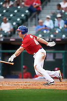 Buffalo Bisons catcher Erik Kratz (40) at bat during a game against the Syracuse Chiefs on July 31, 2016 at Coca-Cola Field in Buffalo, New York.  Buffalo defeated Syracuse 6-5.  (Mike Janes/Four Seam Images)